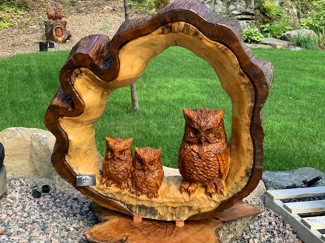 "Featured image for ""42″ Triple Owl Carving"""